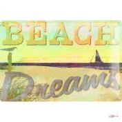 M.A. Allen Retro Tin Sign U.S. Deco beach sailing excursion Beach Dreams Travel Freedom 20x30 cm Large Metal Wall Decoration Vintage Retro Classic Plaque