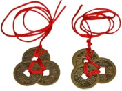 Reorient Chinese Feng Shui Coins For Wealth And Success - 2 Sets Of 3