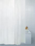 Fabric Bathroom Shower Curtain Plain White 200 x 200 cm Extra Long Hallways ®