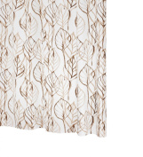 Ridder Leaves 326180-350 Shower Curtain 180 x 200 cm with Hanging Rings Brown