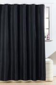 Diamante Black Fabric Bathroom Shower Curtain With Hooks 180cm x 180cm