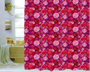 """Shower Curtain Textile 180x200 cm. """"RED ROSES"""""""