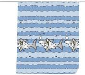 Wenko Sharky Textile Shower Curtain, 180 x 200 cm