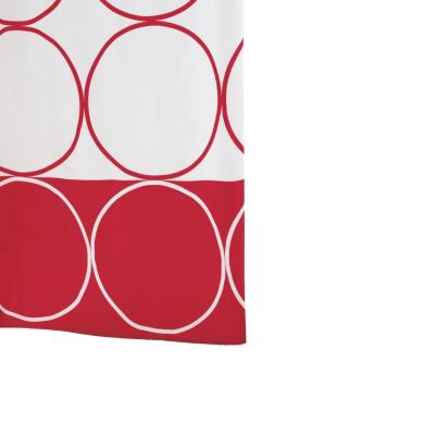 Ridder Circle 463860-350 Shower Curtain 180 x 200 cm Textile Red