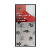 Astro Large Deluxe Shower Curtain With 12 Hooks Black Fishes