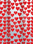 Spirella Sweetheart 10.15242 Shower Curtain 180 x 200 cm DV PEVA Red