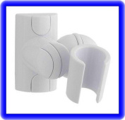 Shower Head Holder White, Adjustable, Just Screw To Wall
