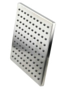 Stainless Steel Schower Head Rainshower 198x198mm brushed massive Design square