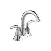 American Standard Bathroom Tropic 10cm . 2-Handle High-Arc Bathroom Faucet in Polished Chrome with Speed Connect Pop-Up Drain, Polished Chrome/Polished Nickel 7038.201.002