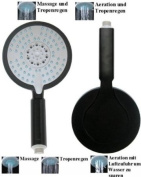 Big Shower Head with 5 spray patterns and anti-limestone knobs
