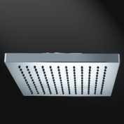 Design Shower Head Rain shower Square Angular Sanlingo Chrom 20x20cm