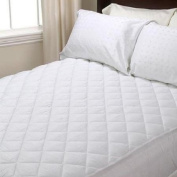 """Double Polycotton Quilted Fitted Mattress Protector Extra Deep 30cm (12"""" Approx) 137cm x 190cm by Quality Linen and Towels"""