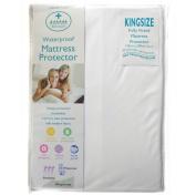 White Kitted Kingsize Mattress Protector