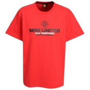 OFFICIAL MANCHESTER UNITED CRESTED RED THEATRE OF DREAMS T-SHIRT