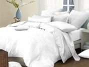 100% Egyptian Cotton 200 Thread Count Duvet Cover, White,
