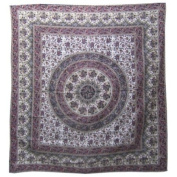 Elephant Mandala Bedspread / Printed Cotton Bed Cover / Indian Bedspreads - Maroon