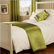 Passion Faux Silk Runner in Moss Green
