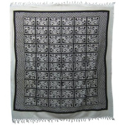 Block Printed Fish Cotton Bedspread / Hand Printed Bed Cover / Indian Bedspreads