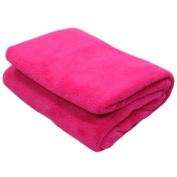 Snuggle Touch Fleece Throw, Hot Pink, 140 x 200 Cm