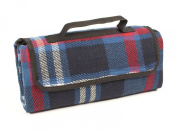 Picnic Blanket in Blue, Red and White Tartan