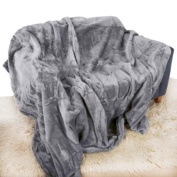 Silver Grey Mink Throw Luxury Soft Plush Large (150cm x 200cm- Suitable for Double Size Bed or 2 Seater Sofa) Sofa Bed Runner Bedspread Blanket by Quality Linen and Towels