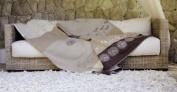 David Fussenegger Blanket Jade Border Ecru 150 x 200 cm GOTS certified (organic cotton) 3460/80