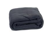 Comptoir du Linge POL18GRF Fleece Blanket 220 x 180 cm Dark Grey