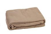 Comptoir du Linge POL22TAU Fleece Blanket 220 x 240 cm Taupe