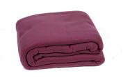 Comptoir du Linge POL26LIL Fleece Blanket 240 x 260 cm Purple