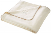 David Fussenegger Blanket Bamboo Embroidery Ecru 150 x 200 cm 2101/60