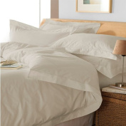 Oxford Embroidered Duvet Cover Set, Taupe, Single
