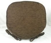 Luxury Brown Chenille Seat / Chair Pads / Cushions With Piped Edging
