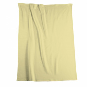 Biederlack Bocasa Thermosoft Microfibre Blanket Throw, 150 x 200 cm, Pale Yellow