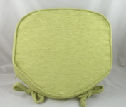 Luxury Salad Green Chenille Seat / Chair Pads / Cushions With Piped Edging