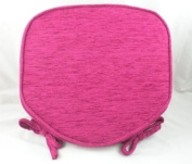 Luxury Cranberry Chenille Seat / Chair Pads / Cushions With Piped Edging