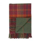 Johnstons of Elgin Lambswool Reversible Tweed Throw in Dunoon