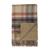 Johnstons of Elgin Lambswool Reversible Tweed Throw in Teviot