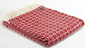 Lifestyle Cobweave pure new wool throw - Winter Red