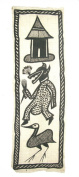 African Cotton Senufo Wall Hanging / Throw / African Tribal Art #8 Crocodile Design