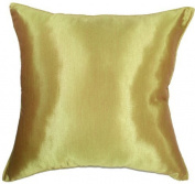 Artiwa 41cm x41cm Silk Decorative Throw Accent Pillow Cover : Solid Vegas Gold - Gift Recommend