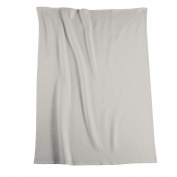 Biederlack Bocasa Cotton Pure Blanket Throw, 150 x 200 cm, Silver