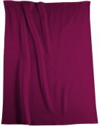 Biederlack Bocasa Orion Cotton Blanket Throw, 150 x 200 cm, Dark Red