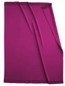 Biederlack Bocasa Orion Cotton Plus Blanket Throw with Fringes, 150 x 200 cm, Raspberry