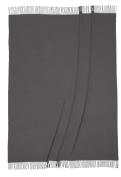 Biederlack Bocasa Plaid Britta Pure New Wool, 130 x 170 cm, Anthracite