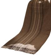 Biederlack Bocasa Plaid Britta Pure New Wool, 130 x 170 cm, Brown Striped
