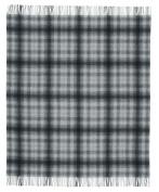 Biederlack Bocasa Plaid Britta Pure New Wool, 130 x 170 cm, Grey Checked