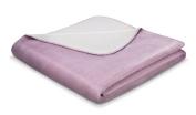 Bocasa 150 x 200 cm Tender Plain Blanket Throw, Heather/ Ecru