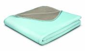 Bocasa 150 x 200 cm Tender Plain Blanket Throw, Hydro/ Chalk Rock