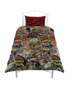 Marvel Comic Heroes Single Duvet