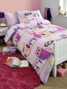 Kids Hoot Owl Duvet Cover Set Lilac, Pink, Double Bed
